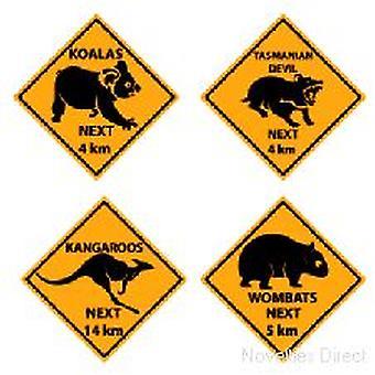 Australian Outback Schild Ausschnitte
