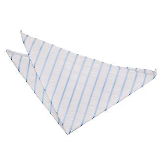 Bianco & Baby blu singolo striscia tasca quadrato