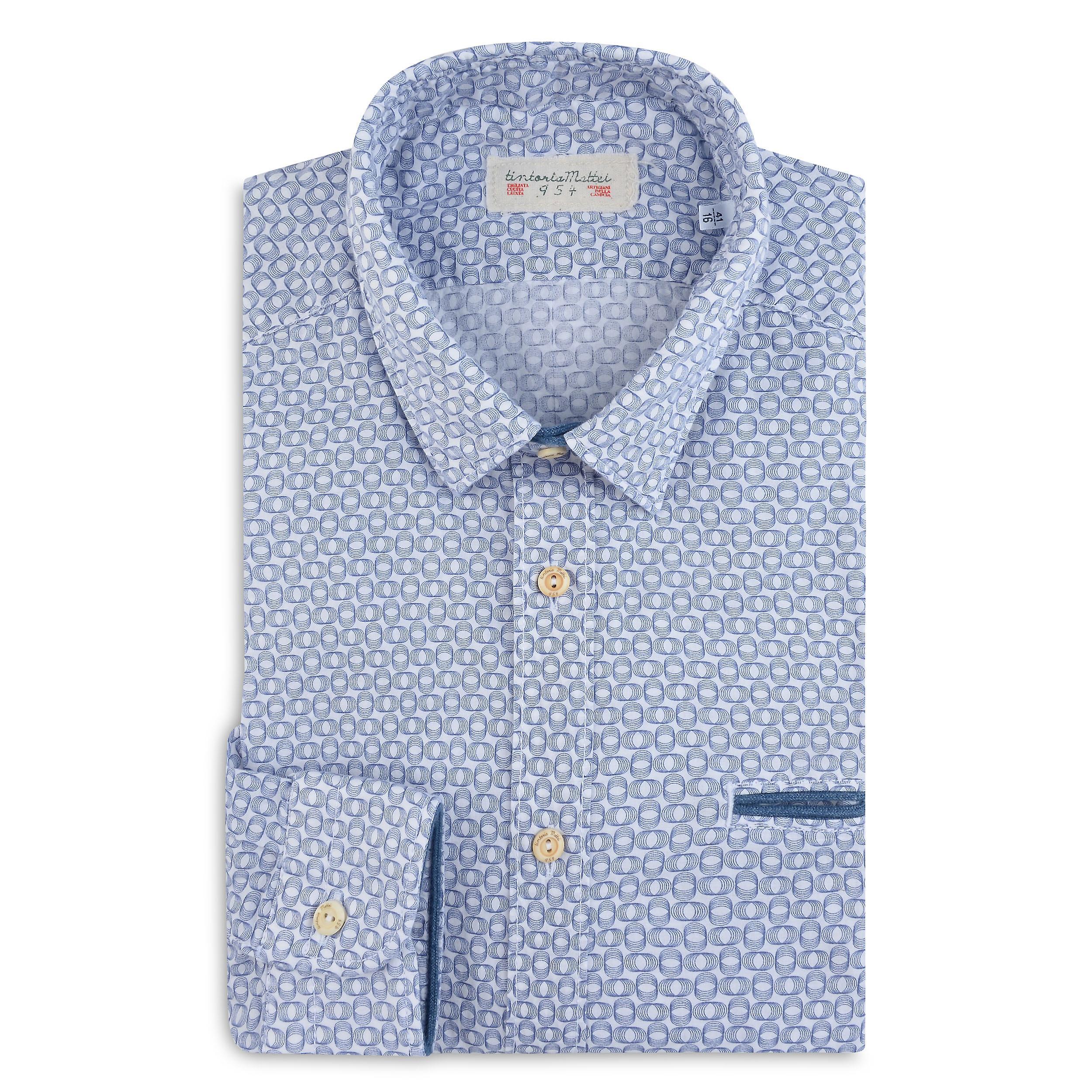 Fabio Giovanni Montedoro Shirt - Mens Italian Casual Stylish Shirt 100% Cotton - Long Sleeve