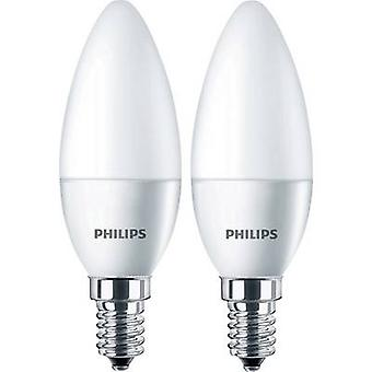 Philips Lighting LED EEC A+ (A++ - E) E14 Candle 5.5 W = 40 W Warm white (Ø x L) 35 mm x 106 mm 2 pc(s)