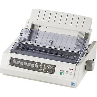 OKI ML3390 eco Dot Matrix الطابعة 390 chars/s 24-pin نقطة مصفوفة رأس الطابعة، تغذية ضيقة، 80 شار عرض الطباعة USB، موازية