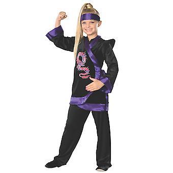 Violetti lohikäärme Ninja Stealth salamurhaajan Japanin soturi kirja viikko tyttöjen puku
