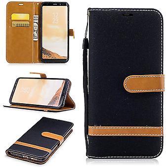 サムスン銀河 s8 カバー + ジーンズ カバー携帯保護カバー ケース ブラック プラス