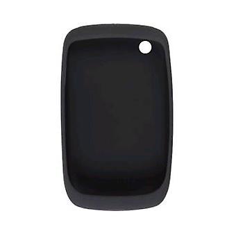 BlackBerry-סיליקון מקרה עור עבור BlackBerry 8500, 8520, 8530, 9330-שחור