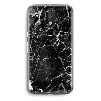 Motorola Moto G4/G4 Plus Transparent fodral (Soft) - marmor svart 2