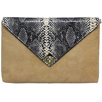ZLV359 Tessie Ladies slange semsket Clutch Bag