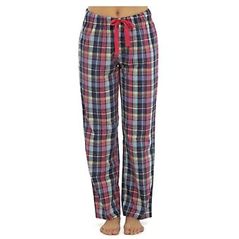 Womens Plaid Check Polycotton Summer Pyjama Trouser Bottoms Lounge Wear Pants 330