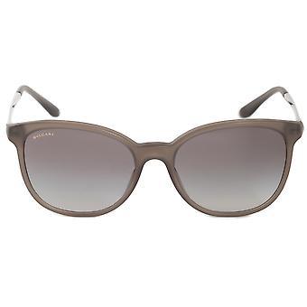 Bvlgari-Runde Sonnenbrille BV8160B 526211 54 | Grau braun Acetat-Rahmen | Grauen Farbverlauf Linsen