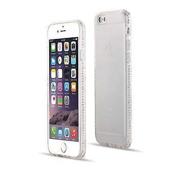 Custodia chiara con paraurti strass - iPhone 7