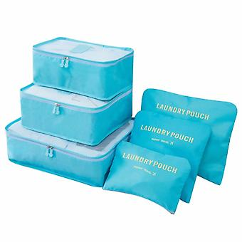 Organizing set for suitcases-light blue