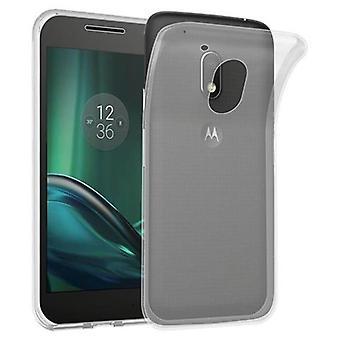 Cadorabo tilfældet for Motorola MOTO G4 spille sag Cover-mobiltelefon sag lavet af fleksibel TPU silikone-silikone sag beskyttende sag Ultra Slim Soft tilbage Cover sag kofanger