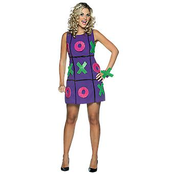 Womens Noughts & Crosses Game Novelty Funny Fancy Dress Costume