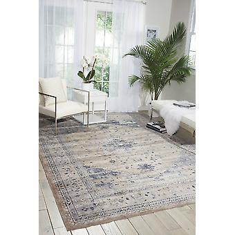 Malte MAI02 Rectangle bleu Beige tapis couvertures traditionnelles