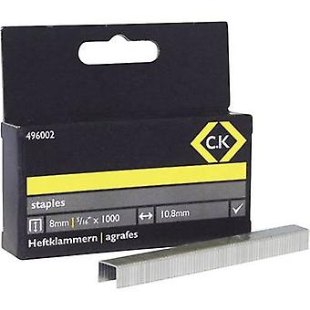 Pocket clamps 1000 pc(s) C.K. 496002 Clip type 140 Dimensions (L x W) 8 mm x 10.5 mm