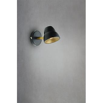 Herstal - Fico LED Wall Light Black Finish 3011050405