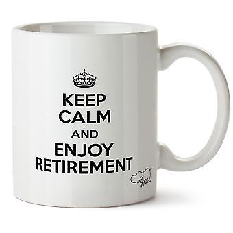 Hippowarehouse holde ro og nyt pensjonstilværelsen trykt krus Cup keramiske 10 Unzen
