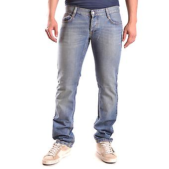 John Richmond Ezbc082029 Men's Blue Cotton Jeans