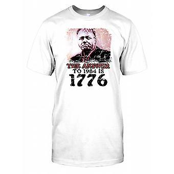 Svaret på 1984 är 1776 - konspiration Mens T Shirt