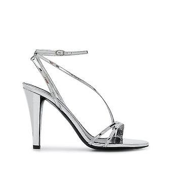 Isabel Marant Sd034919e003s08si Women's Silver Leather Sandals