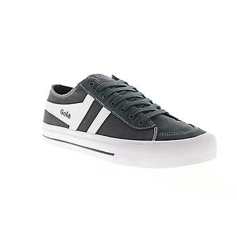 Gola Quota II  Mens Gray Canvas Retro Low Top Lifestyle Sneakers Shoes