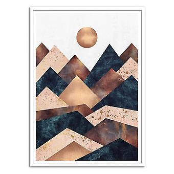 Art-Poster - Autumn Peaks - Elisabeth Fredriksson 50 x 70 cm