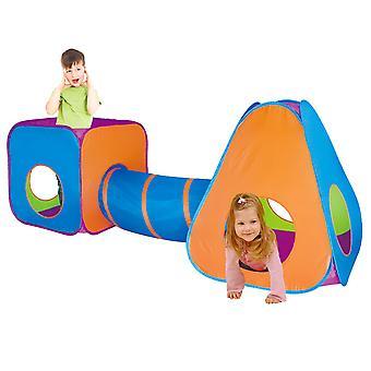Charles Bentley kinderen 3 in 1 Adventure indoor outdoor pop-up spelen tent set