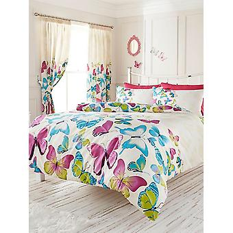 Fashion Butterfly Duvet Cover and Pillowcase Set