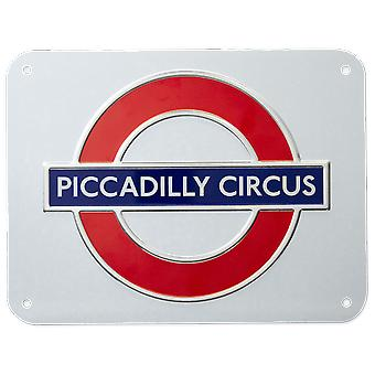 Tfl™3107 licensed piccadilly circus roundel™ metal sign large