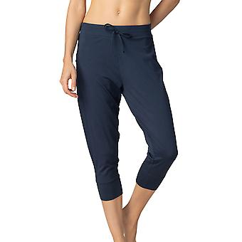 Mey 16959-408 Women's Night2Day Demi Night Blue Cotton 3/4 Loungewear Pant