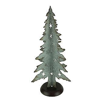 素朴な亜鉛めっき金属素材クリスマス ツリー 21 インチ背の高い