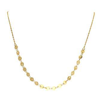 Gemshine Halskette Choker mit Plättchen in Silber, vergoldet oder rose