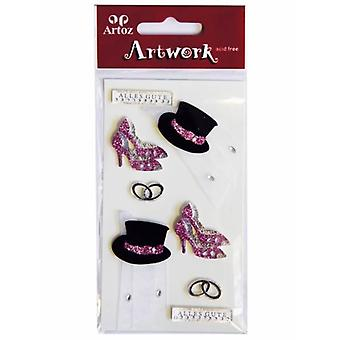 Baby Girl Clothes Set Artoz Card Embellishments Pink and White