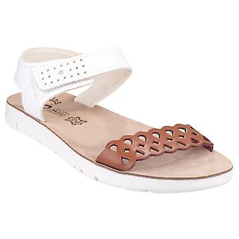 Fantasy Womens Agios Ladies Summer Sandal Tan/White