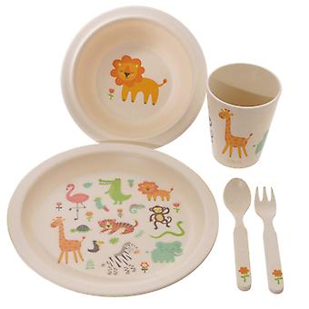 Bambootique Zooniverse Bambus Kinder's 5 Stück Abendessen Set