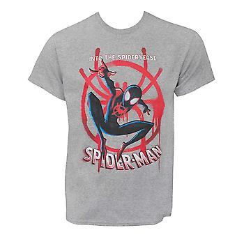 Spider-Man Into The Spider-vers-engelske mil Morales menn ' s T-skjorte