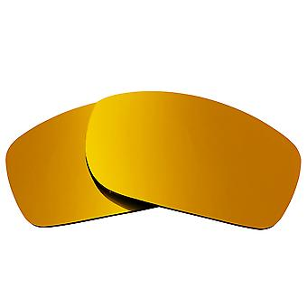 SEEK linser kompatible for Oakley femmere squared polarisert Gold Mirror