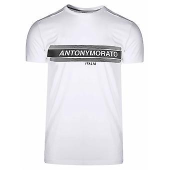 Antony Morato Sport White Print Logo T-Shirt