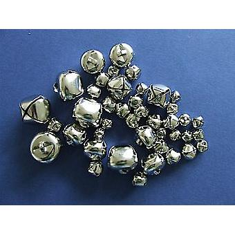 43 Silver Assorted Size Jingle Bells for Crafts | Craft Bells