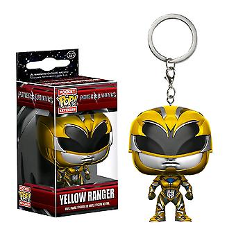 Power Rangers film Gele Ranger Pocket pop! Sleutelhanger
