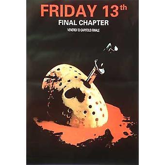 Freitag 13th - das letzte Kapitel (einseitige italienische Nachdruck) Nachdruck Poster