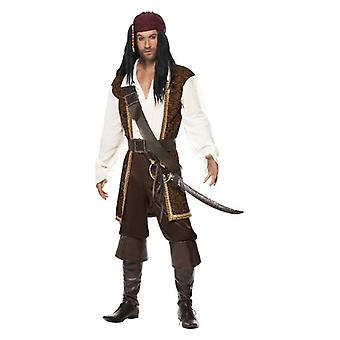 Mens volle zee piraat Fancy Dress kostuum