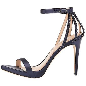 Imagine Vince Camuto Womens Daphee Fabric Open Toe Ankle Strap Classic Pumps