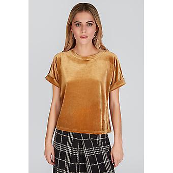 Louche Maika Velvet Tshirt Gold