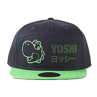 Nintendo baseball cap Yoshi Dots nye offisielle Super Nintendo Black Strapback