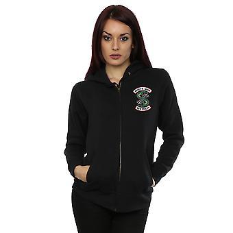 Riverdale kvinnor ' s Southside Serpents bröst Print zip upp hoodie