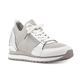 Michael Michael Kors Womens Billie stof lage top Lace up Fashion sneakers