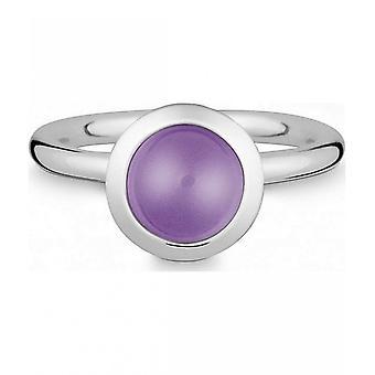 טבעת קווין-כסף עם אחלמה-021838633