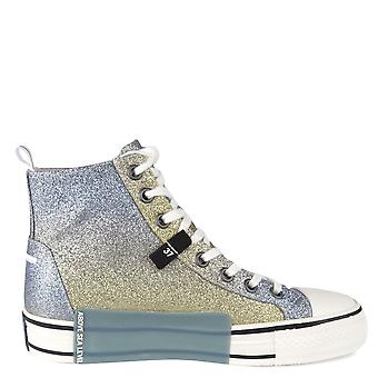 Ash GLOVER Blue & Gold Glitter Trainers