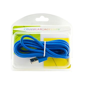 Cellular Accents USB Cable with Data Transfer 6ft for Apple iPhone 5 - Blue