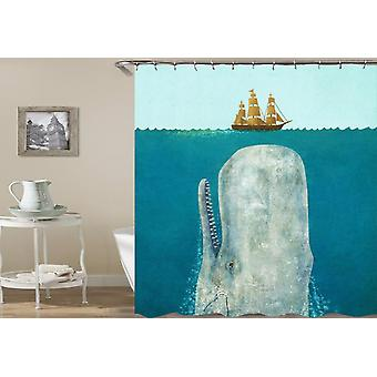 Whale The Sea Monster Shower Curtain